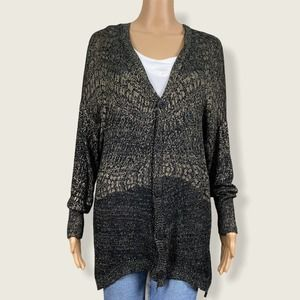 Custo Barcelona Oversize Metallic Cardigan Sweater